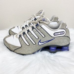 Nike SHOX White Leather 2007 Running Shoes Size 8
